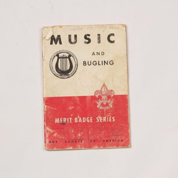 Vintage 1947 Boy Scouts Music and Bugling Book